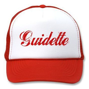 Guidette Italian Guido Funny Parody Trucker Hat from Zazzle.com