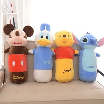 Disney Mickey Mouse Stitch Don Duck Bear Cub Cartoon Pillow Cushion Plush Toy Decoration Adult Child Birthday Gift  60cm