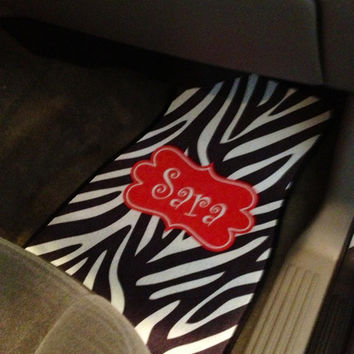 Personalized  / Monogrammed Car Mats by SassySouthernGals on Etsy