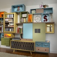 Storage Systems Made Of Reclaimed Furniture | Shelterness