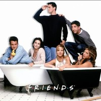 Friends Bath Tubs TV Romantic Sitcom Television Show Postcard Poster Print, Unframed 11x14