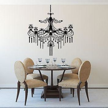 Wall Sticker Vinyl Decal Luxury Chandelier Plafond Lamp Decor Unique Gift (n139)