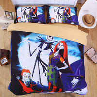 The Nightmare Before Christmas Eve decoration 3D Corpse Bride Bedding Set Duvet cover set Twin queen king life nice Quality#2