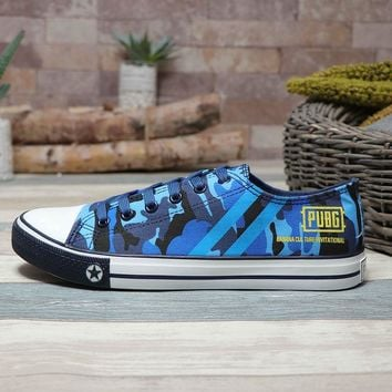 PUBG x CDG PLAY x Converse Chuck Taylor All Star Low Blue - Best Deal Online
