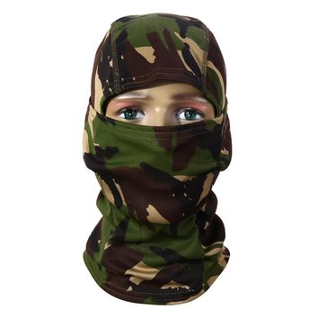 3D Camouflage Cycling Face Mask Multifunctional Unisex Headgears Full Face Shield Scarf for Hiking Quick Dry