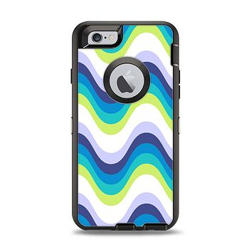 The Fun Colored Vector Sharp Swirly Pattern Apple iPhone 6 Otterbox Defender Case Skin Set
