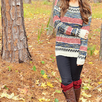 Cozy Up With Me Sweater: Multi