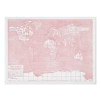 Her World ~ Pink Vintage World Map from Zazzle.com