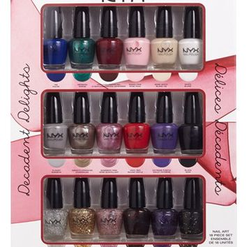 Junior Women's NYX 'Decadent Delights' Nail Art Collection