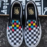 Vans Slip-On Canvas Tartan Sneakers Sport Shoes
