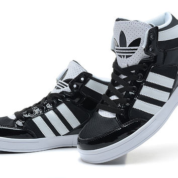 New Arrival Authentic Adidas Originals City Love 4 Generations High Top Shoes Women&Men Black White
