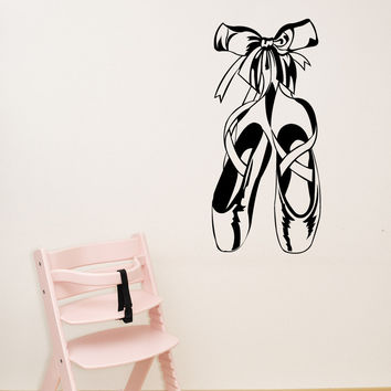 Vinyl Wall Decal Sticker Ballet Slippers #1326