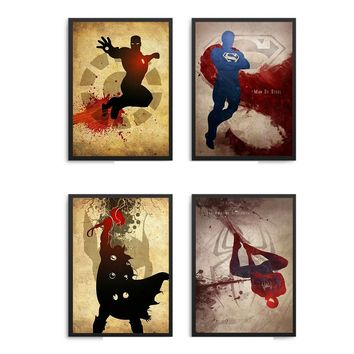 Marvel Comics Iron Man Hulk Captain America  Thor Hawkeye Black Widow The Avengers Movies Superheroes Poster Wall Art Home Decor