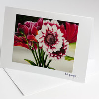 Bunch of Flowers Art Card Flower Greeting by DelineateGallery