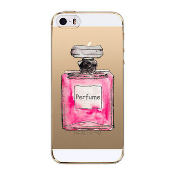 Luxury Perfume Bottle Transparent Soft Silicone Phone Back Cover Case For iPhone 5 5S SE