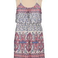 Paisley print plus size tank dress
