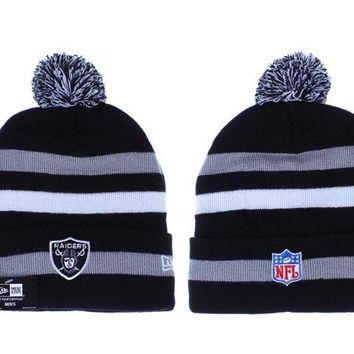 hcxx Oakland Raiders Beanies New Era NFL Football Cap