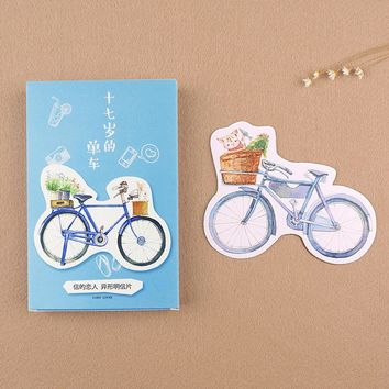 30 pcs/lot novelty bicycle postcard heteromorphism greeting card christmas card birthday message card gift cards
