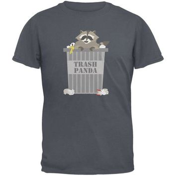 DCCKJY1 Trash Panda Raccoon Charcoal Grey Adult T-Shirt