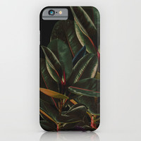 Rubber Plant Leaves Minimal iPhone & iPod Case by lostanaw