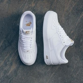Nike Air Force 1 Low Crest Logo ¡°82 WHITE GOLD¡± Sneaker AA4083-102