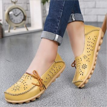genuine-leather-women-flats-shoe-fashion-casual-lace-up-soft-loafers-spring-autumn-lad number 1