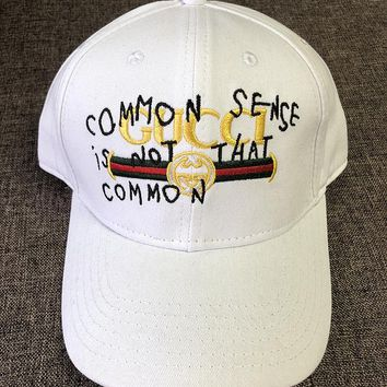 Gucci Embroidered Baseball Cap Hat G