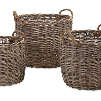 Mellie Willow Baskets, Set of 3, Storage Baskets