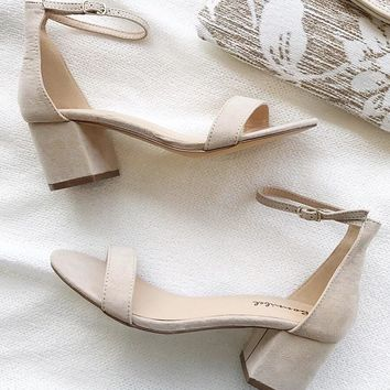Nude Mini Block Heel