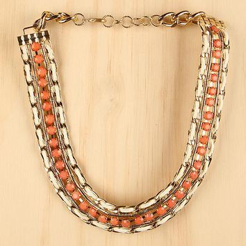 Urban Royale Necklace For Women By LUD   Shop Women's Fashion Lovely Stylish Fashionable Fabulously Chic In The Urban Royale Necklace Chunky Gold-Tone Curb Link Chain Multi-Chains Urban Royale Necklace