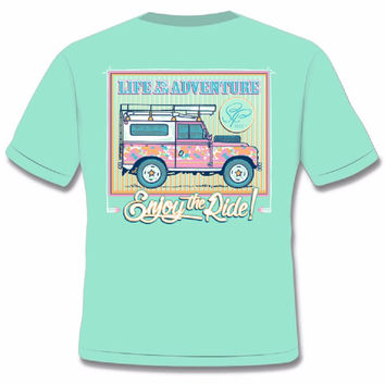 Sassy Frass Comfort Colors Life is an Adventure Range Rover Bright Girlie T Shirt
