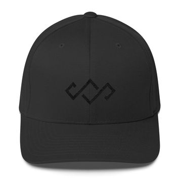 Crown Logo Black Out Flexfit Hat