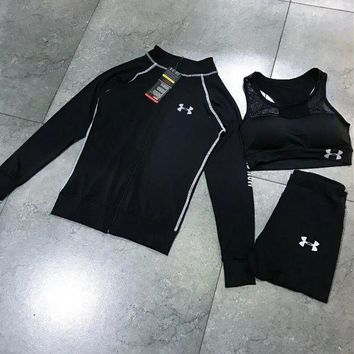 ONETOW Under Armour Casual sportswear female autumn installs the new fashion hoodie three-piece Tagre?