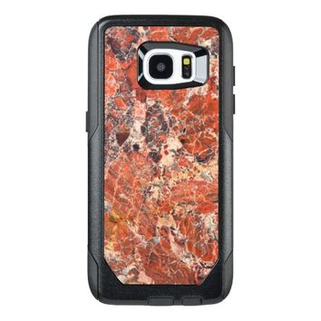 Orange Jasper Stone Pattern OtterBox Samsung Galaxy S7 Edge Case