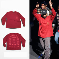 Kanye West I Feel Like Pablo Yeezy Season 3 oversized men's long sleeve t shirt