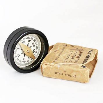 "Vintage ""Pathfinder"" Luminous Magnetic Compass"