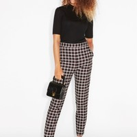 Monki | Trousers | Check trousers