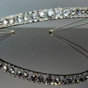 Crystal Rhinestone Bridal Hairband Wedding Hair Accessory