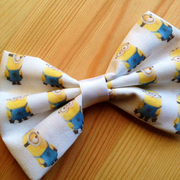 Despicable Me Minion Inspired Hair Bow // Bow tie.