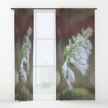 Foxglove Penstemon Window Curtains by Theresa Campbell D'August Art