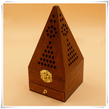 Antique Wood Incense Aroma Pyramid
