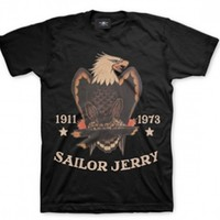 "Men's ""Bold Eagle"" Tee by Sailor Jerry (Black)"
