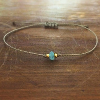 Aquamarine Bracelet - friendship bracelet - best friend gift - best friend bracelet - bridesmaid gift