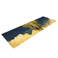 "Nick Atkinson ""Celestial Elephant"" Black Blue Yoga Mat"