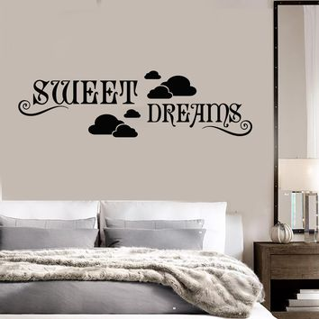 Vinyl Decal Bedroom Sweet Dreams Cloud Decor for Room Wall Sticker Unique Gift (ig1164)