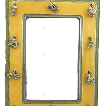 M&A Yellow Enamel Baby Charms Photo Frame