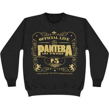 Pantera Men's  101 Proof Sweatshirt Black