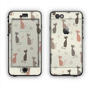 The Vintage Solid Cat Shadows Apple iPhone 6 Plus LifeProof Nuud Case Skin Set