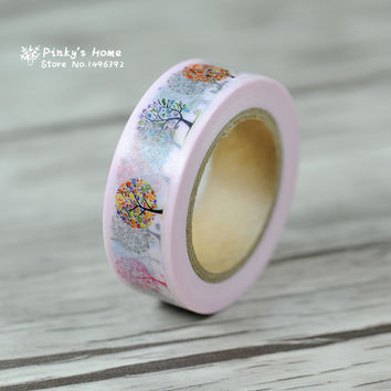 1 PC Cute Cartoon Tape Washi Tape Tree stickers Scrapbook Washi Masking Tape cinta adhesiva