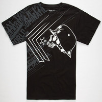 Metal Mulisha Burst Mens T-Shirt Black  In Sizes